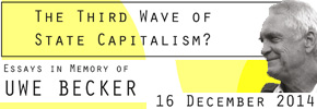 Workshop ICS-ULisboa | INCT-PPED The Third Wave of State Capitalism? Differential Adjustments to Globalization in Advanced Industrialized and Emerging Economies Essays in Memory of UWE BECKER  – 16 de Dezembro/2014 – Instituto de Ciências Sociais - U